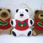Bears, Felt Christmas Ornam..