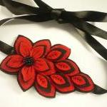  Felt flower headband in re..